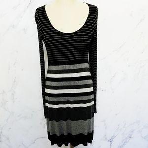 Anthropologie x Bailey 44 | Black Striped Dress